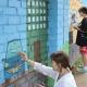 Оформление дворика ГУО «Ясли-сад №15 г.Могилева» силами учащихся специальности Дизайн
